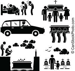 Beerdigungszeremonie Pictogram