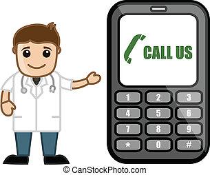 begriff, doktor, &, medizin, helpline, -