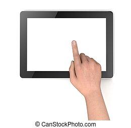 begriff, edv, tablette, abbildung, leer