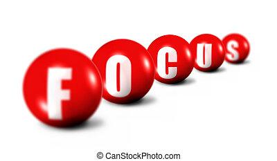 begriff, fokus