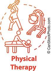 begriff, ikone, physische therapie