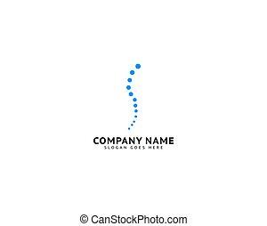 begriff, logo, schablone, design, chiropraktik