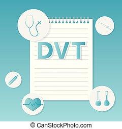 begriff, medizin, thrombosis), (deep, dvt, vene