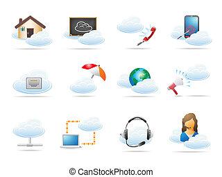 begriff, rechnen, wolke, ikone