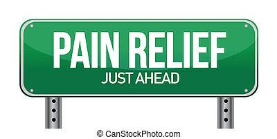 begriff, schmerz, zeichen, verkehr, erleichterung, straße