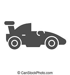 begriff, symbol, autorennsport, hintergrund., piktogramm, sport, glyph, beweglich, auto, zeichen, weißes, icon., vektor, sport, web, formel, graphics., fahrzeug, stil, auto, fest, rennen, design.