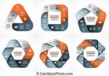 begriff, zubehörteil, abstrakt, 6, processes., schaubild, hintergrund., 4, schablone, 8, geometrisch, darstellung, geschaeftswelt, optionen, 7, zyklus, diagramm, infographic., runder , chart., 5, vektor, schritte, 3, oder