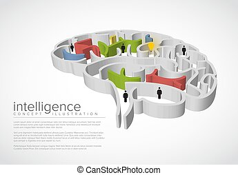 begrifflich, abbildung, intelligenz