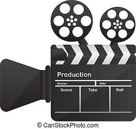 begrifflich, kamera- film, kino