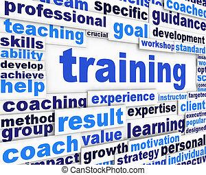 begrifflich, training, design, nachricht