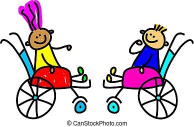 Behinderte Kinder