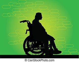 Behinderten im Rollstuhl.