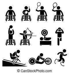 Behindertensport lähmlich.