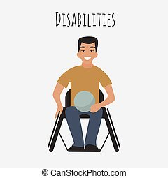 Behinderter Rugbyspieler im Rollstuhl.