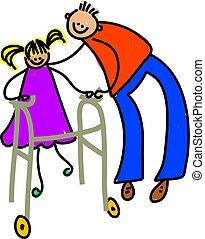 Behindertes Mädchen