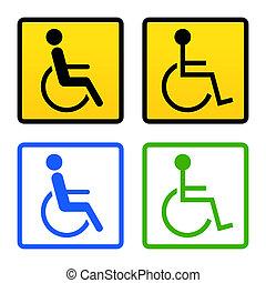 Behindertes Rollstuhlschild