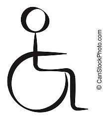 Behindertes Symbol.