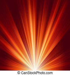 Beleuchtet mit warmem Farblicht. EPS 8