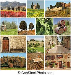 Bella Toscana - Collage.