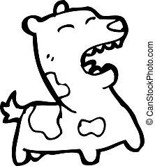 Bellender Hund Cartoon