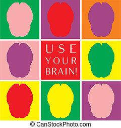 Benutze dein farbiges Vektorsymbol