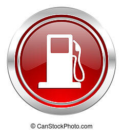 Benzin-Ikone, Tankstellenschild.