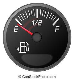 Benzinmesser, Benzinanzeige