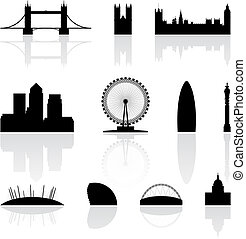 berühmt, wahrzeichen, london