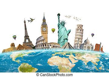 Berühmte Monumente der Welt.