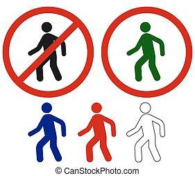 Berühmte Zeichen, die laufen