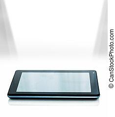 berühren, licht, schirm, tablette
