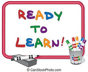 Bereit, Whiteboard zu lernen