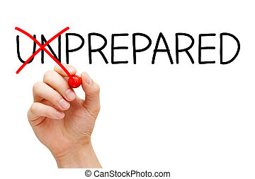 Bereitet euch nicht unvorbereitet vor