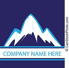 Berge in blauem Navy-Logo