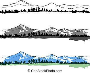 berge, landschaften