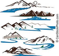 Berge und Flüsse