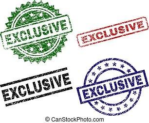 Beschädigte EXCLUSIVE-Siegelmarken