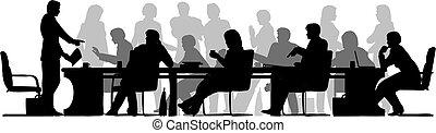 Beschäftigtes Meeting
