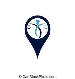 besitz, logo., punkt, gesetzlich, justice., stift, bildung, menschliche , skala, dienstleistungen