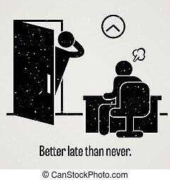 Besser spät als nie.