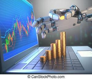 bestandsverkehr, roboter, markt, system
