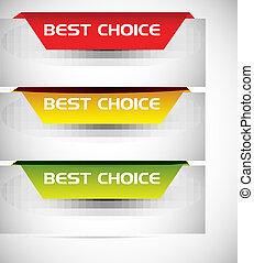 Beste Auswahl-Aufkleber