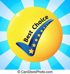 Beste Wahl Icon Vektor