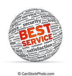 Bester Service 3D-Sphäre