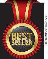 Bester Verkäufer mit goldenem Rippen.