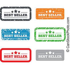 Bester Verkäufer Schild-Icon. Das beste Preiszeichen