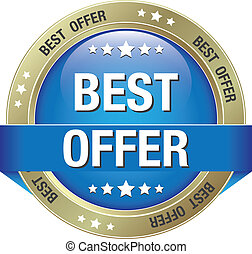 Bestes Angebot: Blauer Goldknopf