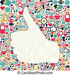 Betäuben Sie die soziale Medien-Ikonstruktion