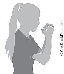 Bete zu Gott.