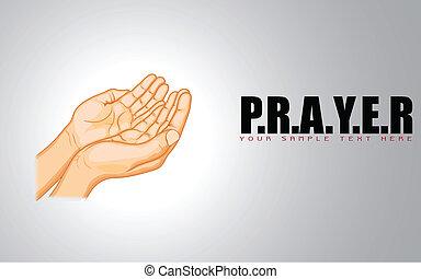 beten, hand